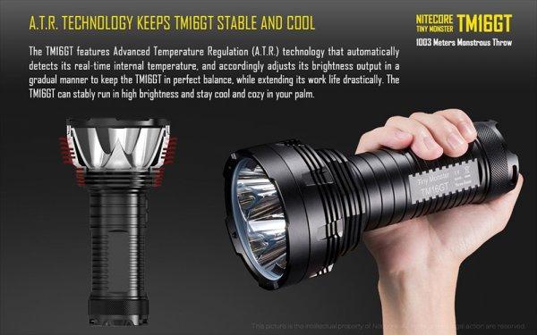 NiteCore TM16GT LED Taschenlampe + Akku + Lader Sparset