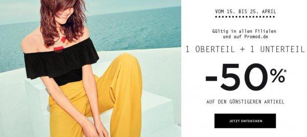 [Promod] neues Outfit mit 50% auf den zweiten Artikel beim Kauf von Ober- und Unterteil