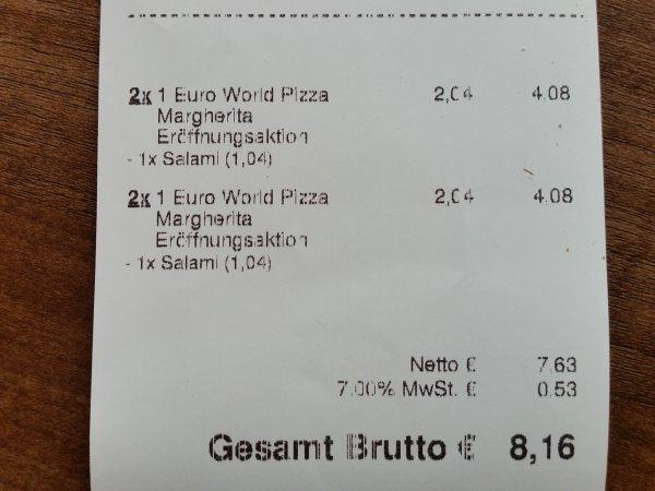 1 € Margherita Pizza zur Neueröffnung bei World of Pizza Magdeburg
