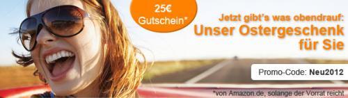 Mietwagenmarkt: 25€ Amazon Gutschein zu jeder Mietwagenbuchung