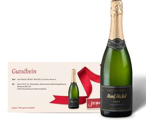 Zeitschrift Barbara + 1 Gratis Flasche Mont Michel Cava Brut Reserva [Jaques Weindepot]
