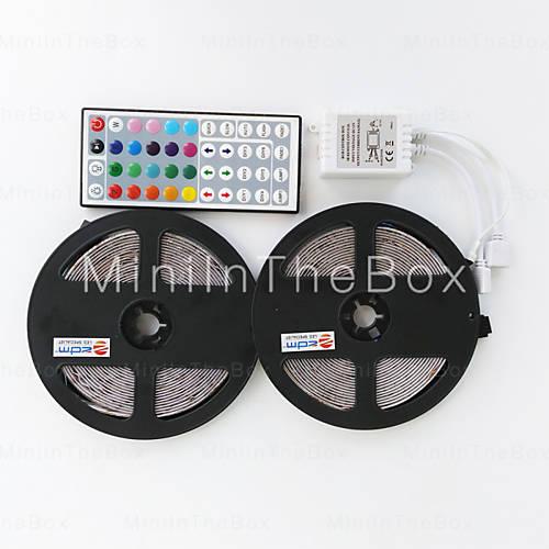 2x 5m (= 10m) LED Strip (300 LEDs 3528, RGB) inkl. Fernbedienung für 5,38€ [Miniinthebox]