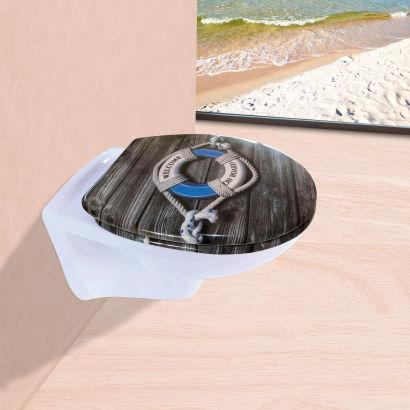 [ALDI Nord] WC-Sitz mit Absenkautomatik in verschiedenen Designs für 15,99€