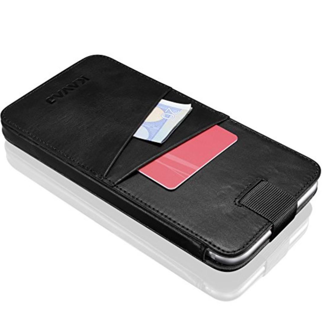 [Amazon.de] KAVAJ Leder-Schutzhülle in Braun oder Schwarz (für iPhone 7/6s/6 Plus) für 4,98€ statt 24,90€
