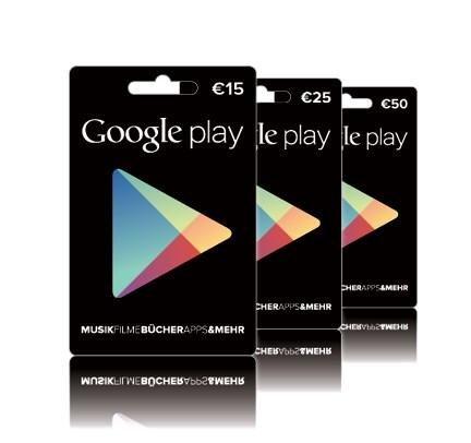 google play store geschenkkarte prepaid