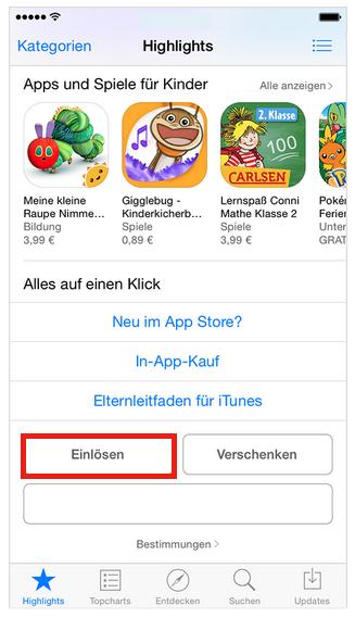 Gutschein bei Apple.com einlösen